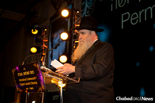 Growth and outreach were emphasized by Rabbi Moshe Kotlarsky, vice chairman of Merkos L'Inyonei Chinuch, the educational arm of the Chabad-Lubavitch movement. (Photo: Chavi Konikov)