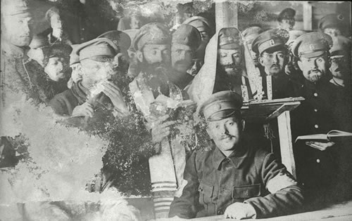 Jewish soldiers of the Russian army. Courtesy of the Leo Baeck Institute, New York.