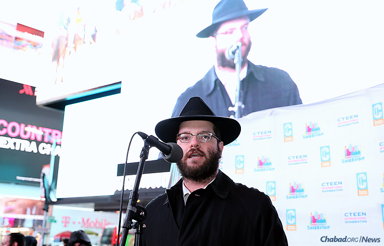 Rabbi Mendel Perlstein, CTeen program director (Photo: Bentzi Sasson)