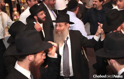 Dancing at a family simcha