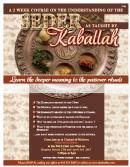 Pre-Passover Kabbalah class