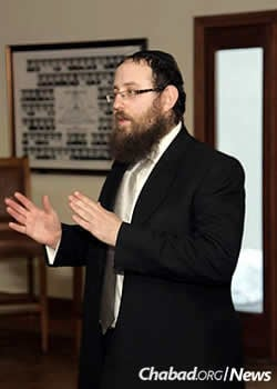 Rabbi Zvi Yaakov Zwiebel, co-director of Chabad's Librescu Jewish Student Center
