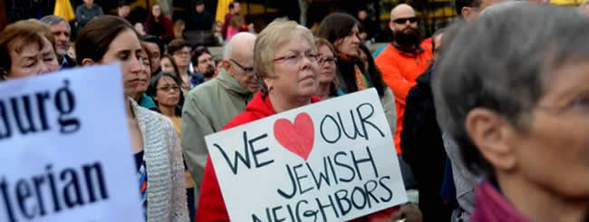 March 2017: 500 at Virginia Tech Rally: 'We Love Our Jewish Neighbors'