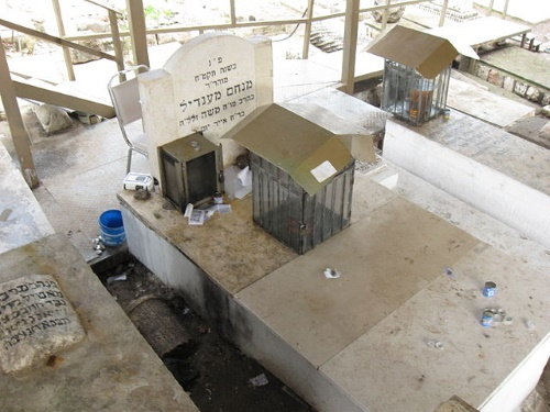 The refurbished grave of Rabbi Menachem Mendel of Vitebsk (Horodok), who led the Chassidic Jews who settled in Tiberias in the late 18th Century (credit: Ori).