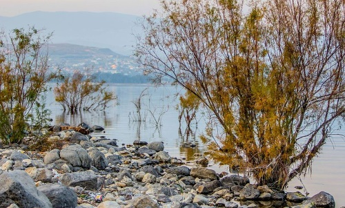 Tiberias sits of the pebbly beaches of the Kinneret Sea.