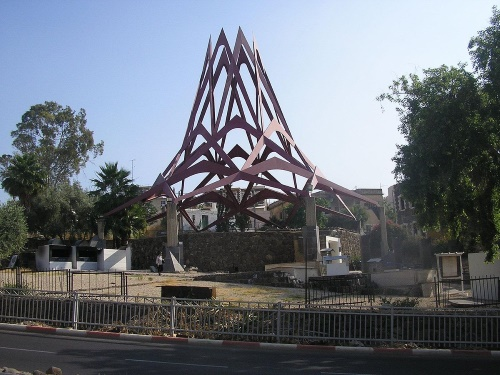 The grave of Maimonides sits in the center of bustling Tiberias.