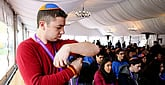 800 Wrap Tefillin, 70 for the First Time, at March of the Living in Poland