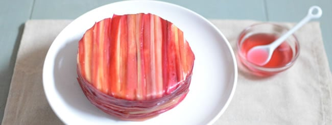 Cook It Kosher: Rhubarb-Wrapped Cheesecake