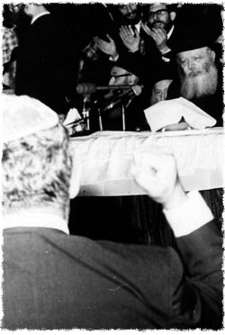 Abe at a Chassidic gathering in the Lubavitch World Headquaters.