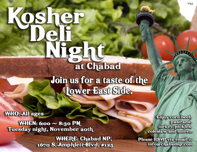 Kosher Deli Night
