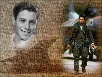 Ilan Ramon as Child and then as Fighter