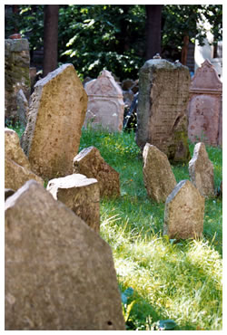 The ancient Jewish cemetery in Prague attracts thousands of tourists.