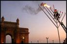 Flames Leap From Mumbai Menorahs