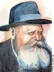 The Rebbe (a portait by Sarah Kranz)