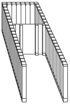 Figure 32b: The outer and inner chambers of the Tabernacle - perspective