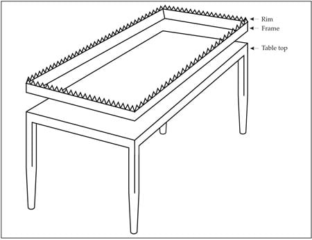 Figure 5a: The Table and its frame - first opinion