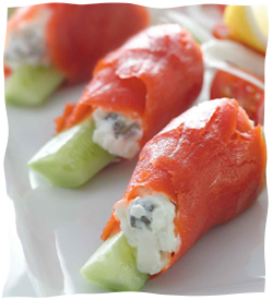 Smoked Salmon Rolls - Kosher Recipes & Cooking