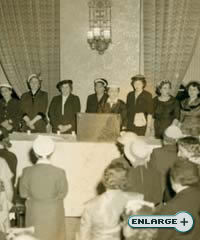 One of the first Lubavitch Women's conventions in the early 1950s