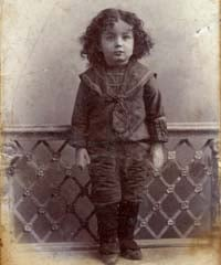 The Rebbe prior to the age of three