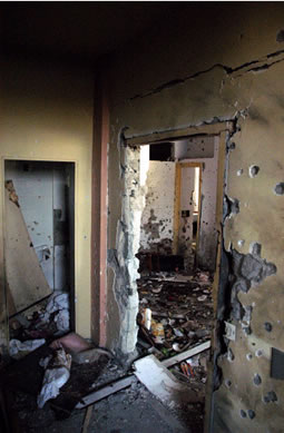 Inside Nariman House after the seige ended.