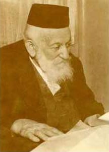 Dr. Moshe Wallach (b. 1866), founder of Shaare Tzedek Hospital in Jerusalem, in his later years.