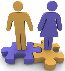 Dos hombre y una mujer