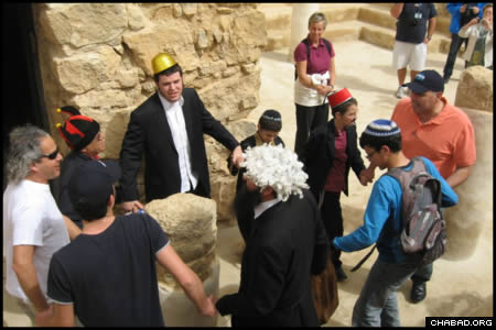 Célébration de Pourim à Massada avec 'Habad-Loubavitch: tous ensemble!