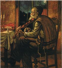 ''מלווה מלכה'', ציורו של זלמן קליינמן.