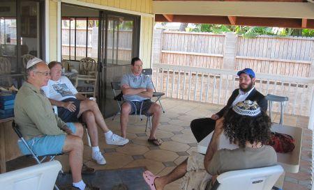 Torah class @ a friend's house in Kihei.