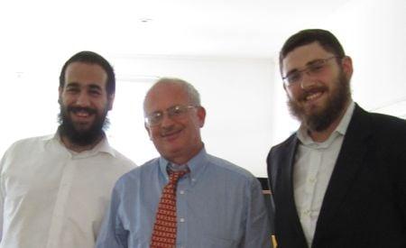 Roving Rabbis, Moshe Frank and Berri Spitezki with Mr. Thomas Kupfer, Swiss Ambassador to S. Korea.