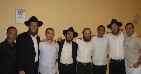 After Shabbat, with some of our guests.
