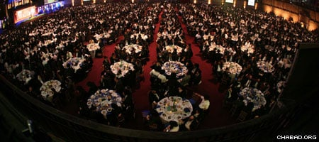 For years, the concluding gala banquet of the International Conference of Chabad-Lubavitch Emissaries has been known as the largest sit-down dinner in New York City.