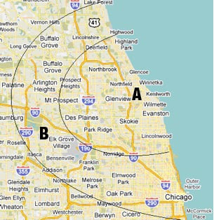 North Suburbs Of Chicago Map