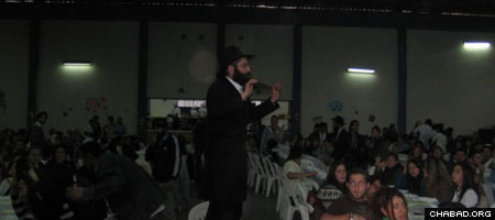 Rabbi Ofer Kripor presides over one of the largest Passover Seders in the world in Cuzco, Peru.