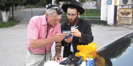 In <i>tefillin</i> for the first time in his life.