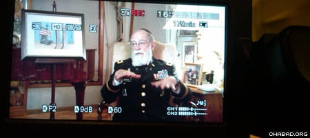 Army Col. Jacob Z. Goldstein, a Chabad-Lubavitch rabbi, tells a film crew from Jewish.TV about his experiences serving at Ground Zero.
