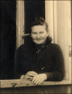 My grandmother in the Pocking Displaced Persons camp in Germany