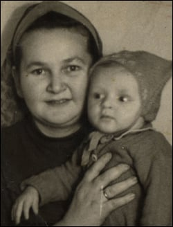 My grandmother with her son Moshe