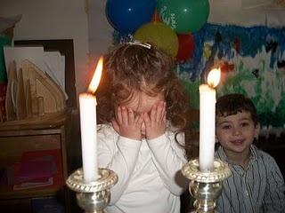 Lighting of Sabbath candles.JPG