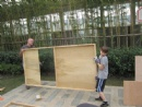 Building the community Sukkah