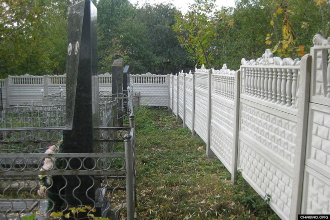 Zhitomir, Ukraine's Jewish cemetery got a new fence earlier this month. The community is led by Chief Rabbi Shlomo Wilhelm, a Chabad-Lubavitch emissary serving the region.