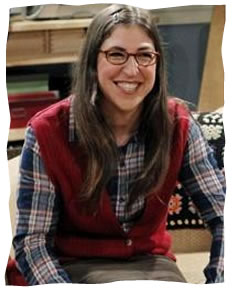 Mayim Bialik on the set of <i>The Big Bang Theory</i>