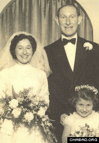 Cyril and Shirley Domb married in 1957.