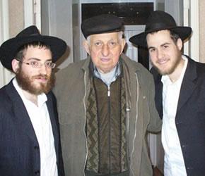 L-R: Shneur Zalman Margolin, Yuleh Darashov, Nison Deitsch.
