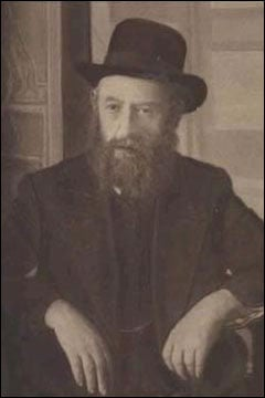 The fifth rebbe of the Chabad-Lubavitch dynasty, Rabbi Sholom Dovber, the Rebbe Rashab, photographed in Rostov-on-the-Don