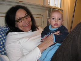 """Bubbles"" with her grandson Yonah."