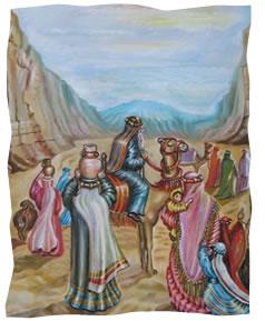 היהודים במדבר. © אהובה קליין / ציורי התנ''ך