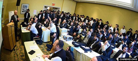 Rabbis and lay leaders have traveled from near and far to attend, with some delayed due to the snowstorm.