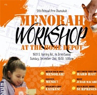 Menorah Workshop at Home Depot 2012