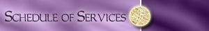 Schedule of Services (Purple)
